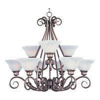 Maxim Lighting Pacific 9 Light Multi-Tier Chandelier in Pewter 2658MRPE