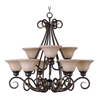 Pacific 9 Light 31 inch Kentucky Bronze Multi-Tier Chandelier Ceiling Light in Wilshire