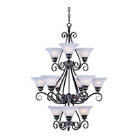 Maxim Lighting Pacific 12 Light Multi-Tier Chandelier in Kentucky Bronze 2659MRKB photo thumbnail