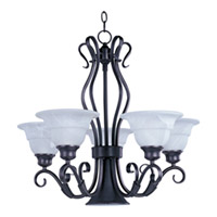 Maxim Lighting Marin 6 Light Single-Tier Chandelier in Bronze 2663MRBZ