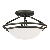 Stratus 3 Light 15 inch Bronze Semi Flush Mount Ceiling Light