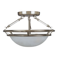Maxim 2670MRPE Stratus 3 Light 15 inch Pewter Semi Flush Mount Ceiling Light photo thumbnail