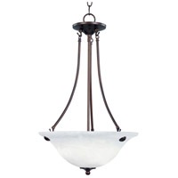 Maxim 2682MROI Malaga 3 Light 16 inch Oil Rubbed Bronze Pendant Ceiling Light in Marble