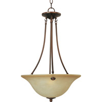 Maxim Lighting Malaga 3 Light Pendant in Oil Rubbed Bronze 2682WSOI