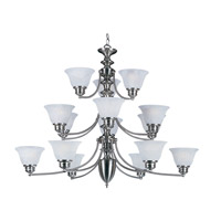 Maxim Lighting Malaga 15 Light Multi-Tier Chandelier in Satin Nickel 2683FTSN