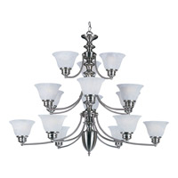 Maxim Lighting Malaga 15 Light Multi-Tier Chandelier in Satin Nickel 2683MRSN