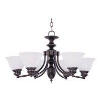 Maxim Lighting Malaga 6 Light Single Tier Chandelier in Oil Rubbed Bronze 2684MROI