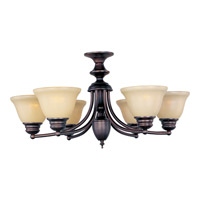 Maxim Lighting Malaga 6 Light Single Tier Chandelier in Oil Rubbed Bronze 2684WSOI