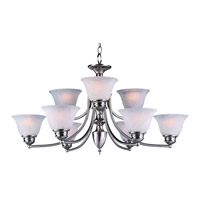 Maxim Lighting Malaga 9 Light Multi-Tier Chandelier in Satin Nickel 2685FTSN