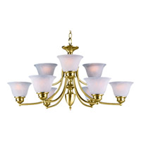 Maxim Lighting Malaga 9 Light Multi-Tier Chandelier in Polished Brass 2685MRPB
