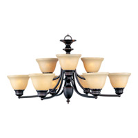 Maxim Lighting Malaga 9 Light Multi-Tier Chandelier in Oil Rubbed Bronze 2685WSOI