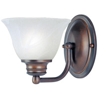 Maxim Lighting Malaga 1 Light Wall Sconce in Oil Rubbed Bronze 2686MROI