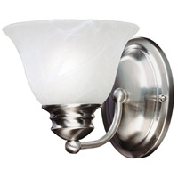 Maxim Lighting Malaga 1 Light Wall Sconce in Satin Nickel 2686MRSN