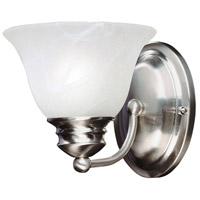 Maxim 2686MRSN Malaga 1 Light 6 inch Satin Nickel Wall Sconce Wall Light in Marble