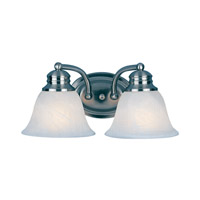Maxim Lighting Malaga 2 Light Bath Vanity in Satin Nickel 2687FTSN