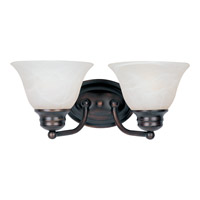 Malaga 2 Light 13 inch Oil Rubbed Bronze Bath Light Wall Light in Marble