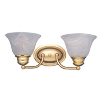 Maxim Lighting Malaga 2 Light Bath Light in Polished Brass 2687MRPB