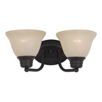 Maxim Lighting Malaga 2 Light Bath Light in Oil Rubbed Bronze 2687WSOI