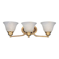 Maxim Lighting Malaga 3 Light Bath Light in Polished Brass 2688MRPB