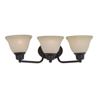 Malaga 3 Light 20 inch Oil Rubbed Bronze Bath Light Wall Light in Wilshire