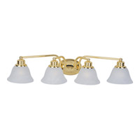 Maxim Lighting Malaga 4 Light Bath Light in Polished Brass 2689MRPB