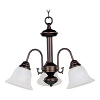 Malaga 3 Light 20 inch Oil Rubbed Bronze Mini Chandelier Ceiling Light in Marble