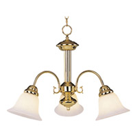 Maxim Lighting Malaga 3 Light Mini Chandelier in Polished Brass 2697MRPB