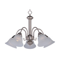 Malaga 5 Light 24 inch Satin Nickel Chandelier Ceiling Light in Frosted