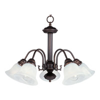 Maxim Lighting Malaga 5 Light Down Light Chandelier in Oil Rubbed Bronze 2698MROI