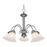 Maxim 2698MRSN Malaga 5 Light 24 inch Satin Nickel Down Light Chandelier Ceiling Light in Marble