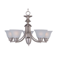 Malaga 5 Light 25 inch Satin Nickel Single-Tier Chandelier Ceiling Light in Frosted