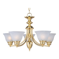 Maxim Lighting Malaga 5 Light Single Tier Chandelier in Polished Brass 2699MRPB