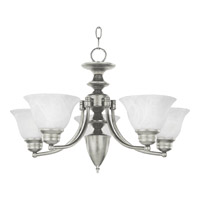 Maxim 2699MRSN Malaga 5 Light 25 inch Satin Nickel Single Tier Chandelier Ceiling Light in Marble
