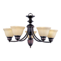Malaga 5 Light 25 inch Oil Rubbed Bronze Single Tier Chandelier Ceiling Light in Wilshire