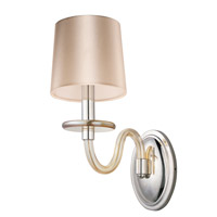 Venezia 1 Light 6 inch Polished Nickel Wall Sconce Wall Light in Cognac