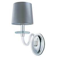 Venezia 1 Light 6 inch Polished Nickel Wall Sconce Wall Light in Clear