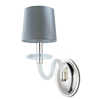 Polished Nickel Glass Venezia Wall Sconces