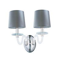 Maxim Venezia 2 Light Wall Sconce in Polished Nickel 27542FTPN
