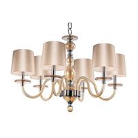 Maxim 27546CGPN Venezia 6 Light 28 inch Polished Nickel Single-Tier Chandelier Ceiling Light in Cognac