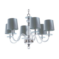 Maxim Venezia 6 Light Single-Tier Chandelier in Polished Nickel 27546CLPN