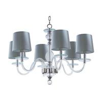 Maxim 27546CLPN Venezia 6 Light 28 inch Polished Nickel Single-Tier Chandelier Ceiling Light in Clear