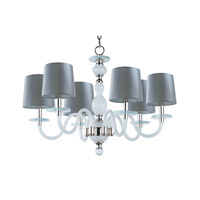 Venezia 6 Light 28 inch Polished Nickel Single-Tier Chandelier Ceiling Light in Frosted
