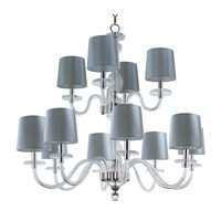 Maxim 27548CLPN Venezia 12 Light 35 inch Polished Nickel Multi-Tier Chandelier Ceiling Light in Clear