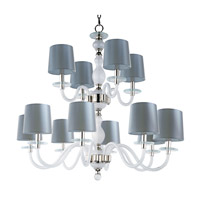 Venezia 12 Light 35 inch Polished Nickel Multi-Tier Chandelier Ceiling Light in Frosted
