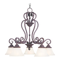 Maxim Lighting Canyon Rim 5 Light Down Light Chandelier in Canyon Rock 2757SVCR