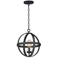 Maxim 27582CDBK Compass 1 Light 12 inch Black Outdoor Pendant photo thumbnail