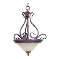 Maxim Lighting Via Roma 2 Light Pendant in Greek Bronze 2772SVGB