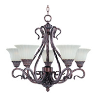 Maxim Lighting Via Roma 5 Light Single Tier Chandelier in Greek Bronze 2774SVGB