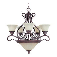 Maxim Lighting Via Roma 7 Light Multi-Tier Chandelier in Greek Bronze 2776SVGB