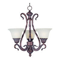 Maxim Lighting Via Roma 3 Light Mini Chandelier in Greek Bronze 2777SVGB